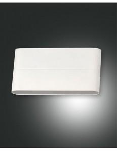 Casper applique LED alluminio rettangolare bombata lati bianco