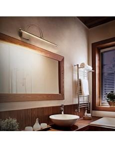 MR DESIGN: Lampada da quadro specchio ottone diffusore LED inclinabile 46cm in offerta