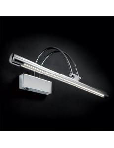 lampada da quadro specchio CROMO 46 cm diffusore ICLINABILE LED