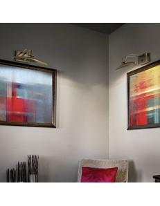 lampada da quadro specchio brunito 25 cm diffusore posizionabile inclinabile