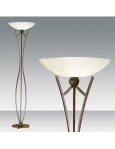 FABAS LUCE: Devon lampada terra ruggine scuro piantana vetro centrifugato in offerta