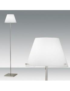 ALEXIA LAMPADA TERRA piantana paralume bianco vetro soffiato soggiorno