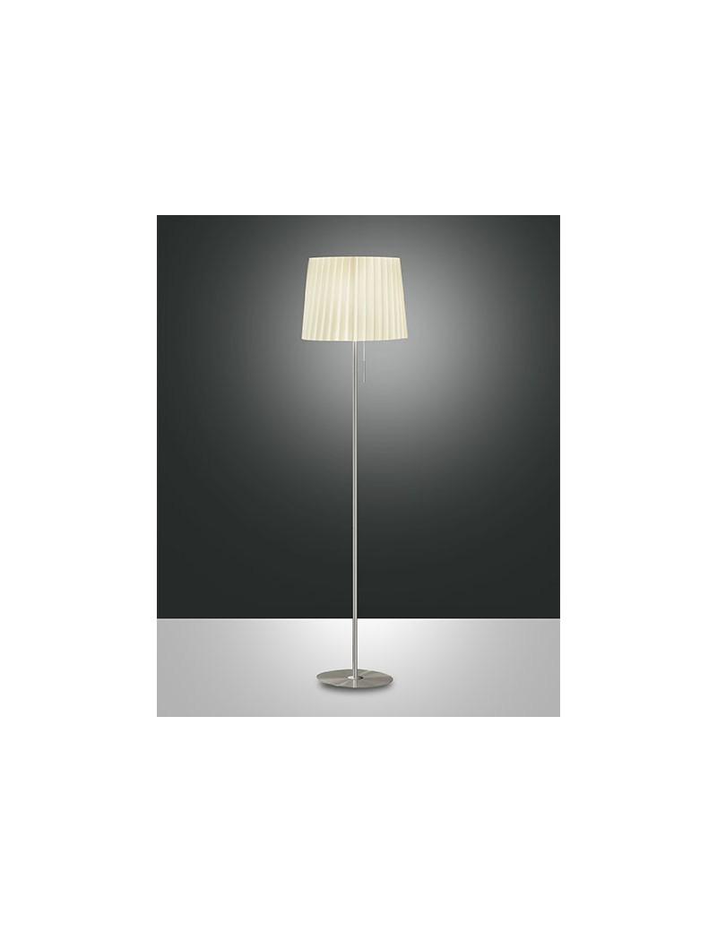 DOROTEA LAMPADA TERRA BEIGE PLISSETTATO PIANTANA CAMERA SOGGIORNO ...