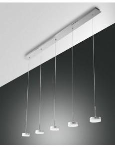 FABAS LUCE: Dunk sospensione barra LED per penisola cucina 5 luci alluminio dimmerabile in offerta