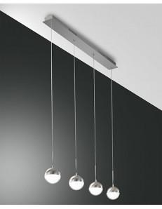 FABAS LUCE: Melville sospensione LED barra 4 luci sfere in offerta