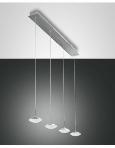 FABAS LUCE: Hale sospensione LED barra 4 luci alluminio per penisola cucina in offerta