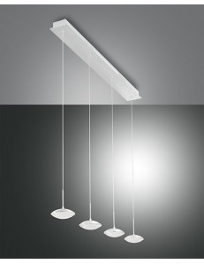 FABAS LUCE: Hale sospensione LED barra 4 luci bianca per penisola cucina in offerta