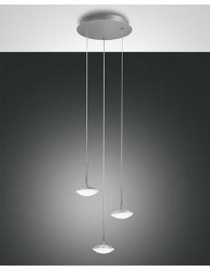 FABAS LUCE: Hale sospensione LED 3 luci alluminio in offerta