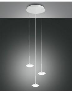 FABAS LUCE: Hale sospensione LED per ingresso 3 luci bianca 24w in offerta