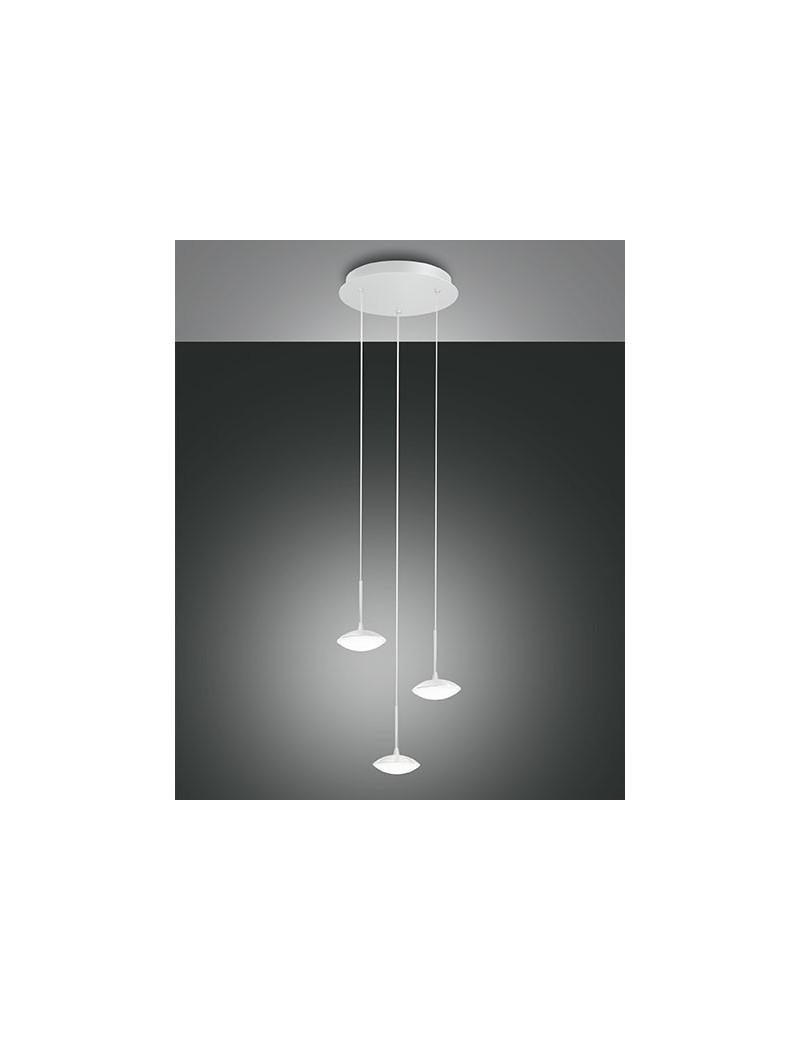 Hale led sospensione 3 luci bianca 24 watt ingresso for Lampade bagno design