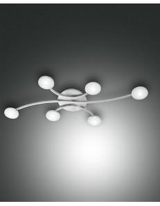 PLAFONIERA MILLK LED 48 watt nichel bracci con cerchio dimmerabile 4200 lumen