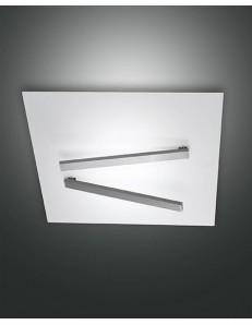 Fabas Luce: Agia plafoniera LED quadrata bianca 42w 50cm in