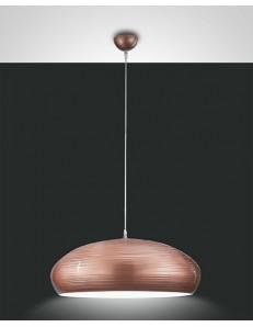 FABAS LUCE: Lodge sospensione in metallo metallo rigato color rame 60cm in offerta