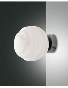 Ava applique sferica bianca modellata camera da letto ingresso fabas