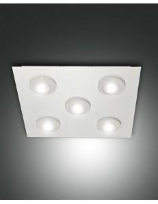 FABAS LUCE: Swan plafoniera LED metallo e matacrilato quadrata bianca in offerta