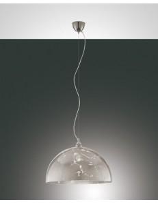 FABAS LUCE: Lord sospensione vetro centrifugato color foglia argento per cucina in offerta