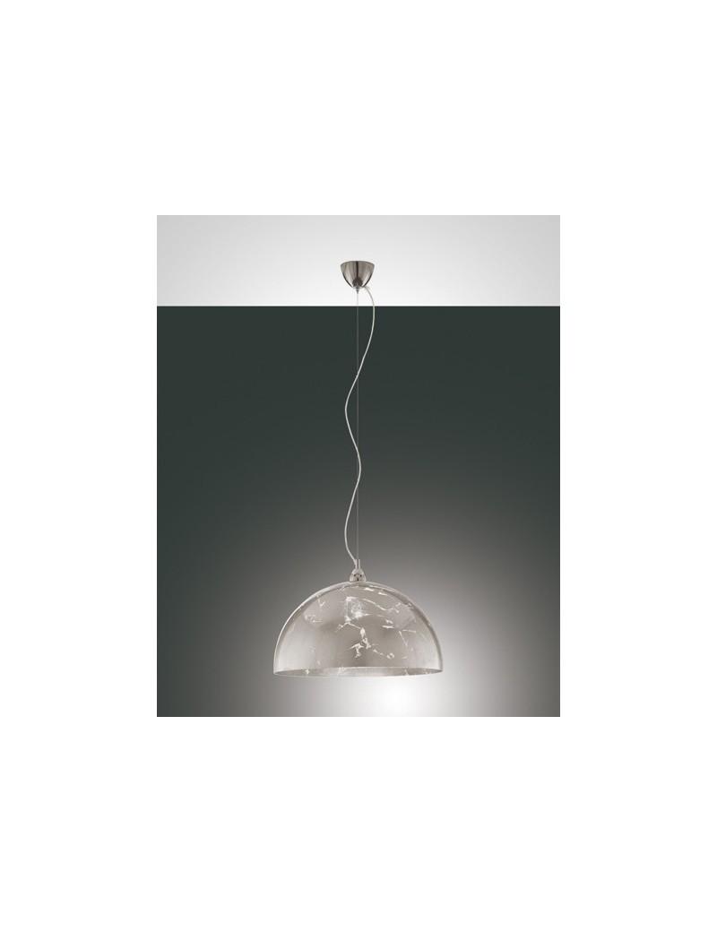 Lord sospensione vetro centrifugato color foglia argento per cucina