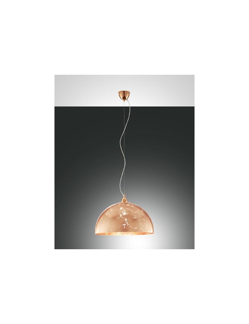FABAS LUCE: Lord sospensione vetro centrifugato color foglia rame per cucina in offerta