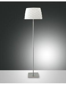 FABAS LUCE: Soft lampada da terra con variatore diffusore vetro acidato e ricamato in offerta