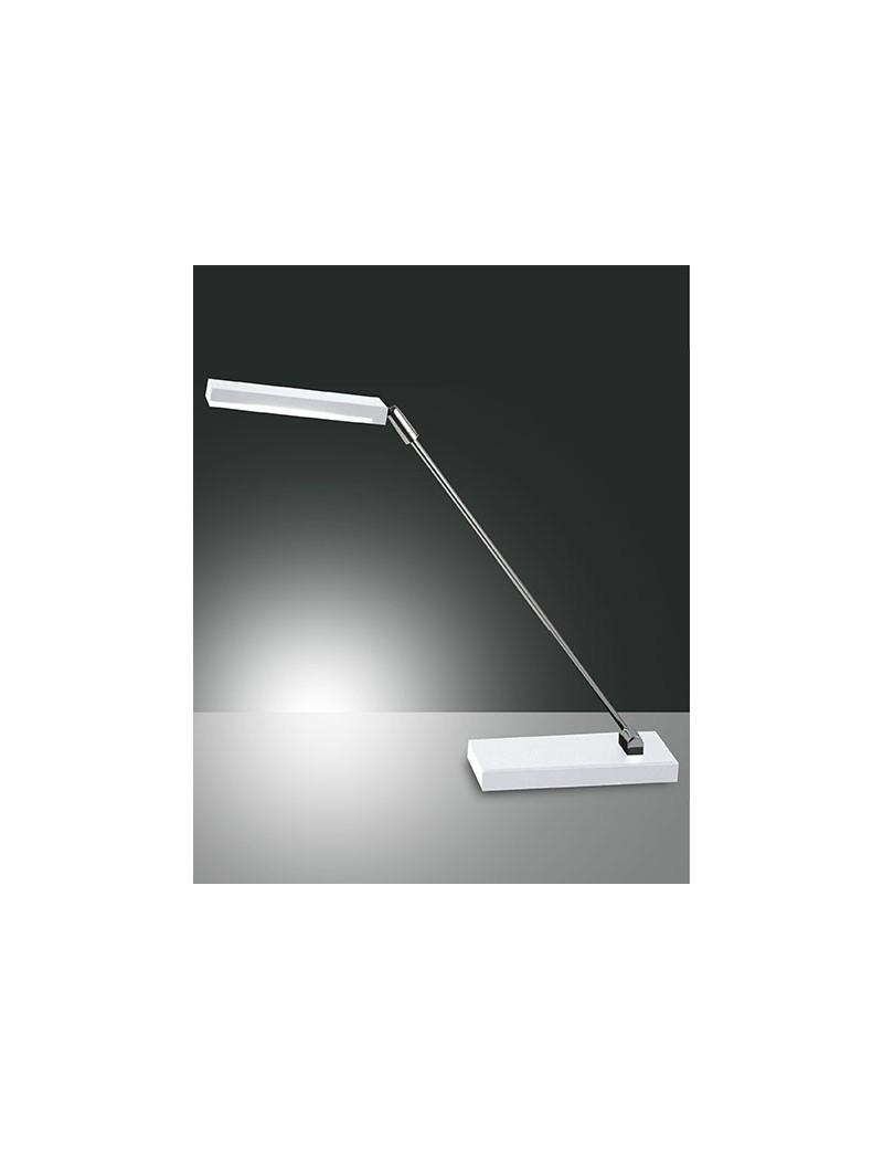 Lampada tavolo niki in metallo bianca 6w scrivania ufficio for Lampada scrivania ufficio