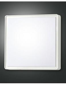PLAFONIERA QUADRATA 27W LED OBAN BIANCA 3000K LUCE CALDA 2400 LUMEN IP65