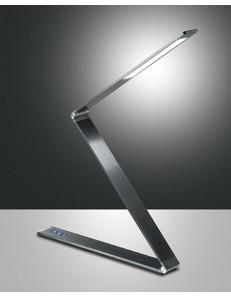FABAS LUCE 3264-30-164 FITZ LED LAMPADA DA TAVOLO IN METALLO ANTRACITE REGOLAZIONE AL TOCCO 1080 LUMEN