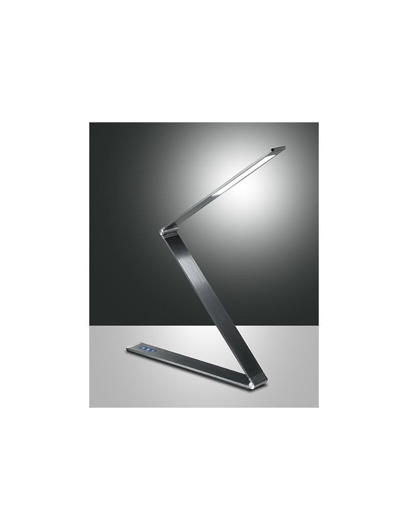 Lampade Da Ufficio A Led.Fabas Luce Fitz Lampada Da Tavolo Led 12w Metallo Antracite