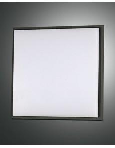 FABAS LUCE: Desdy plafoniera LED quadrata 30w alluminio policarbonato bordo nero in offerta