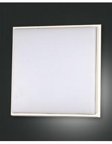FABAS LUCE: Desdy plafoniera LED quadrata 30w alluminio policarbonato bordo bianco in offerta