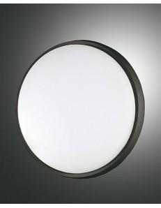 FABAS LUCE: Olly plafoniera LED rotonda 30w alluminio policarbonato bordo nero in offerta