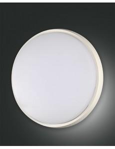 FABAS LUCE: Olly plafoniera LED rotonda 30w alluminio policarbonato bordo bianco in offerta