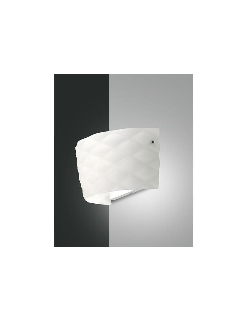Soft applique in alluminio e vetro soffiato vari forma bianco per camera da  letto