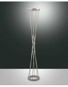 FABAS LUCE: Twister lampada da terra LED 40w nichel doppia luce variatore in offerta