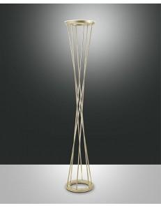 TWISTER LAMPADA DA TERRA PIANTANA LED 40W Oro opaco DOPPIA LUCE MODERNA VARIATORE