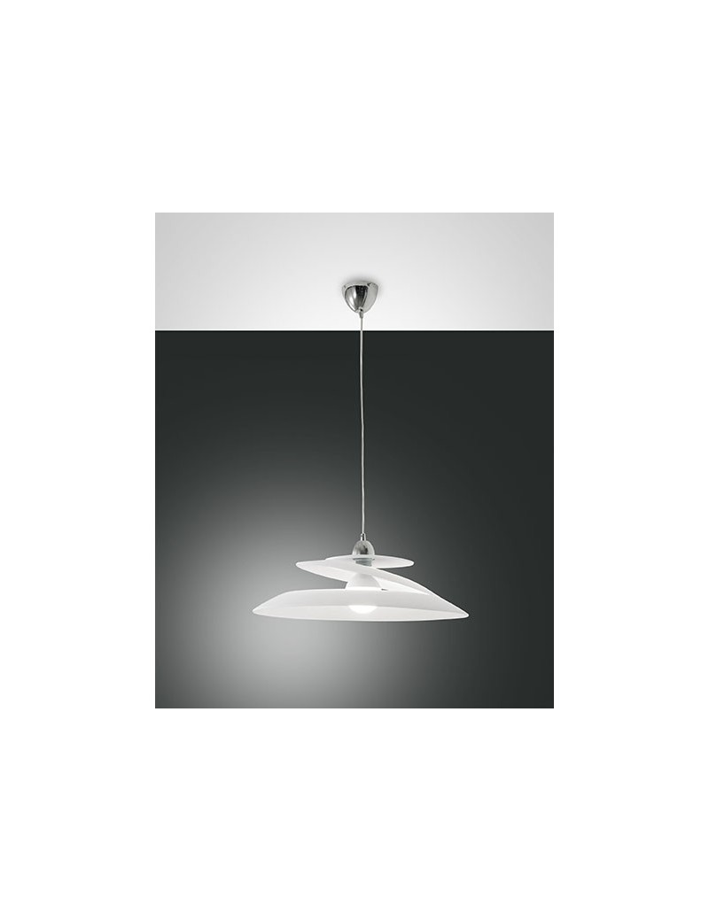 Aragon lampada sospensione bianca vetro effetto vortice camera cucina moderna - Illuminazione cucina moderna ...