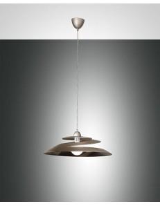 Fabas Luce: Aragon lampada sospensione bronzo vetro effetto