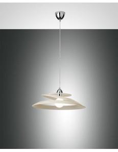Fabas Luce: Aragon lampada sospensione crema vetro effetto