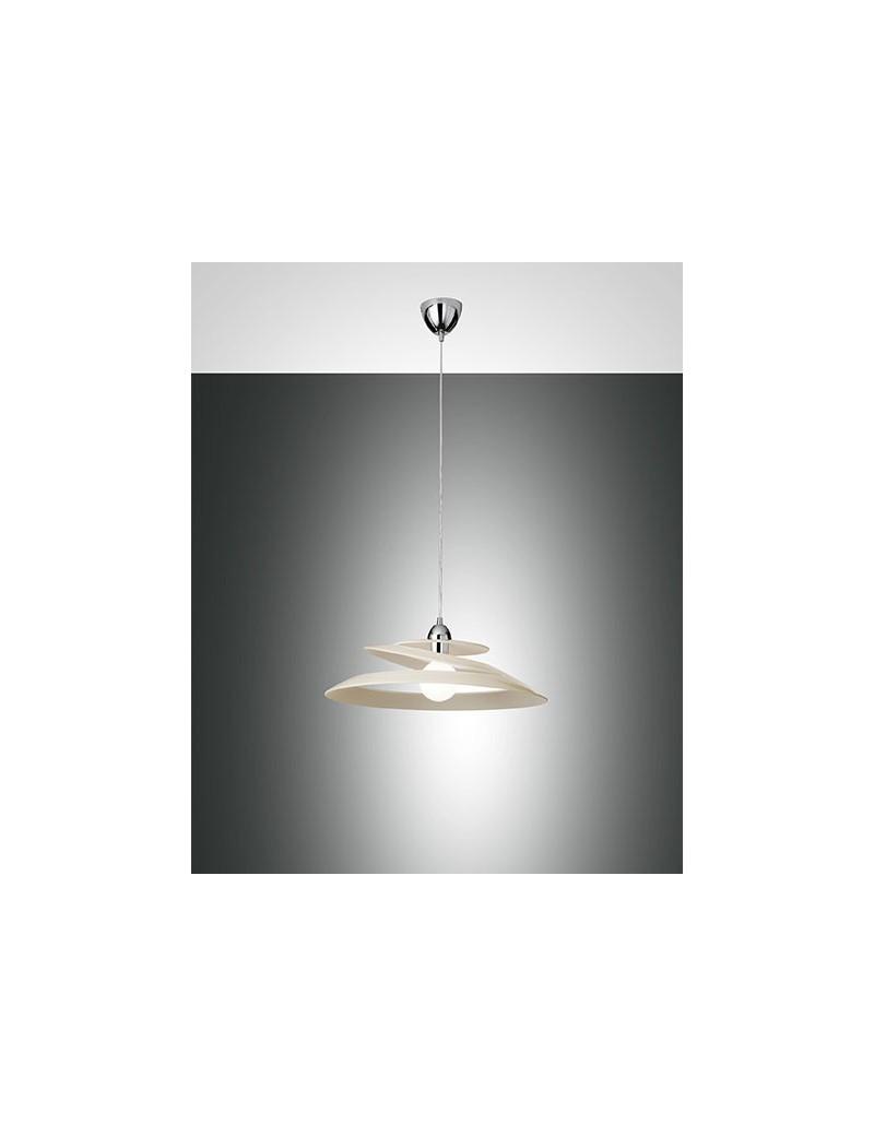 Lampade Per Cucina Moderna.Aragon Lampada Sospensione Crema Vetro Effetto Vortice Camera Cucina Moderna