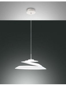 FABAS LUCE: Aragon sospensione LED 18w bianca dimmerabile vetro design vortice in offerta