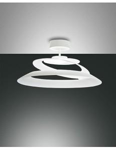 FABAS LUCE: Aragon plafoniera LED dimmerabile vetro vortice bianca in offerta