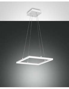 FABAS LUCE: Bard sospensione LED quadrata dimmerabile bianco in offerta