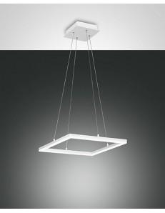 Fabas Luce: Sospensione LED quadrata dimmerabile bianco in
