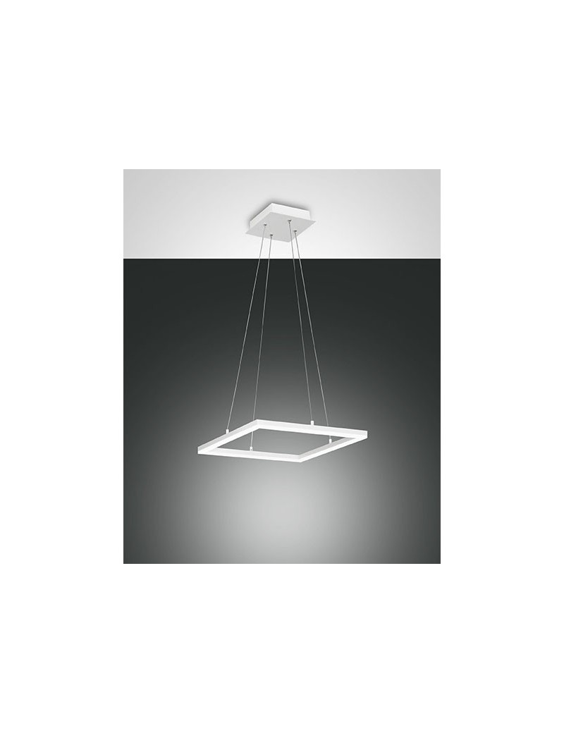 Bard sospensione led 39w quadrata bianca dimmerabile for Lampadario sospensione leroy merlin