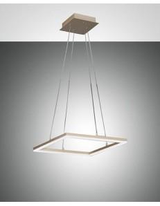 FABAS LUCE: Bard sospensione LED dimmerabile 39w quadrata oro opaco altezza regolabile in offerta
