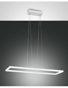 Fabas Luce: Bard sospensione LED 52w rettangolare bianca