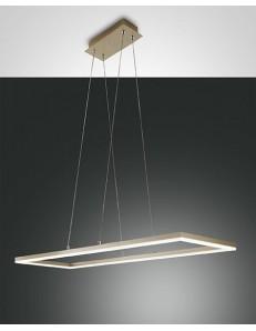 Fabas Luce: Bard sospensione LED 52w rettangolare oro opaco