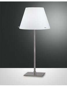 ALEXIA LAMPADA TAVOLO LUME con paralume in vetro bianco camera da letto soggiorno
