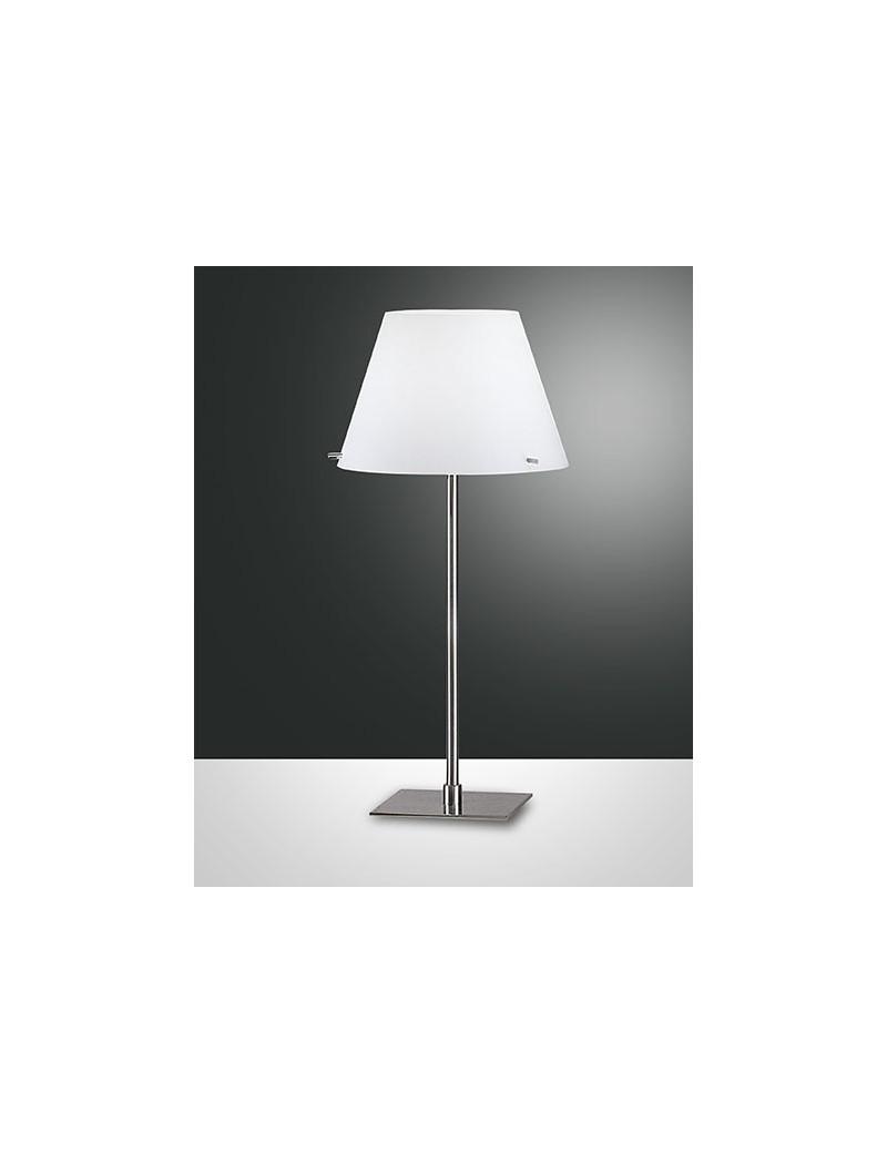 FABAS LUCE 2476-35-178 ALEXIA lampada lume paralume vetro bianco cromo