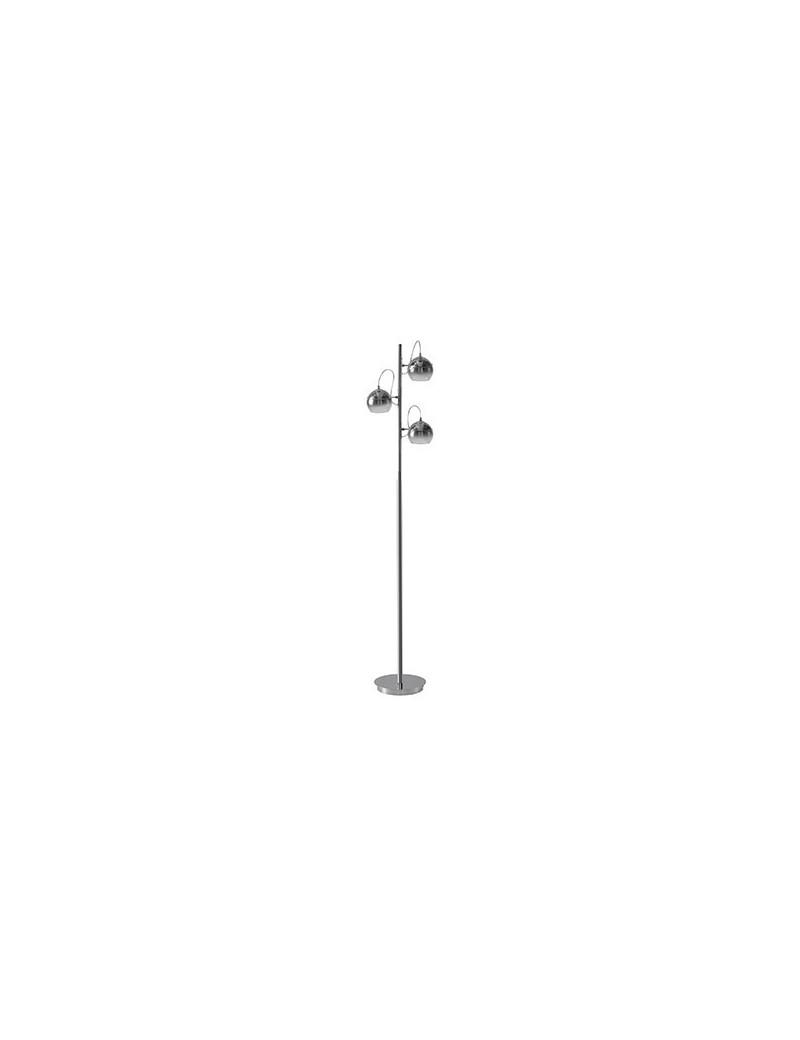 MR DESIGN: Piantana lampada da terra 3 diffusori vetro cromo sfumato in offerta
