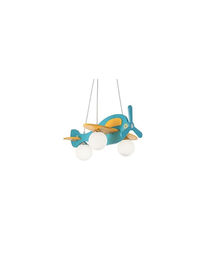 Aereo in legno lampada sospensione cameretta bambini for Applique cameretta bimbi